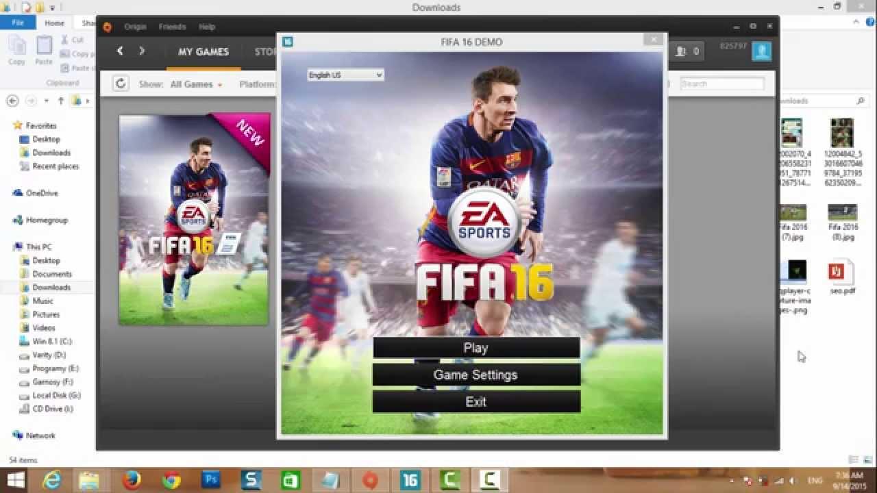 شرح طريقة تشغيل فيفا 2016 من خلال برنامج Origin لتشغيل جميع العاب EA Games