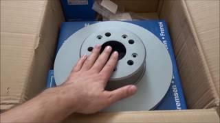 Тормозные диски, колодки фирмы ATE за 153 евро. W140