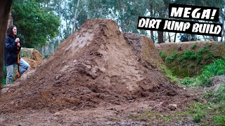 Attempting to Build our Biggest Dirt Jump Yet!