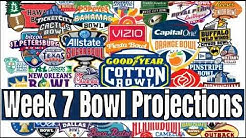 Week 7 College Football Bowl Projections 2019