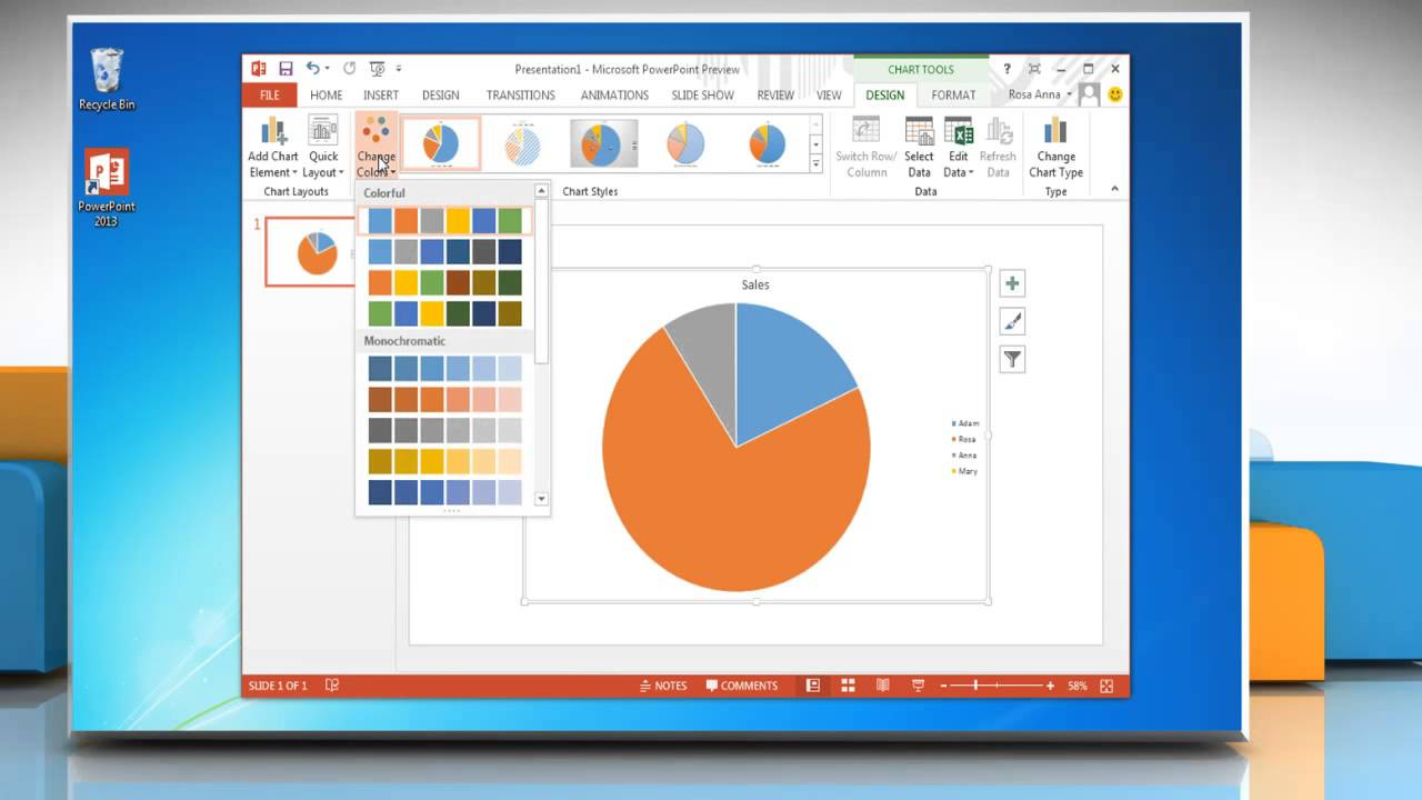 How to make a pie chart in powerpoint 2013 youtube how to make a pie chart in powerpoint 2013 ccuart