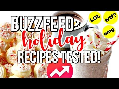 BUZZFEED HOLIDAY RECIPES TESTED!