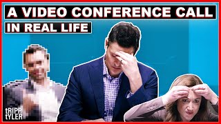 Repeat youtube video A Video Conference Call in Real Life