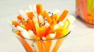 Маринуем морковь, дайкон и сельдерей. Японская кухня. Рецепт от Всегда Вкусно!