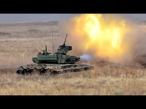 Стрельбы Т90А. Полигон