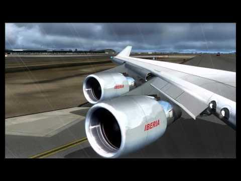 [FSX] - Boeing 747-400 Iberia Barcelona Departure PART 11