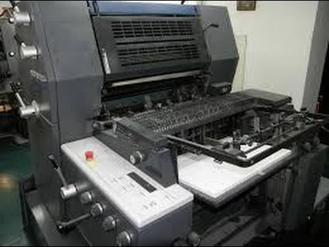 Heidelberg single colour printing machine