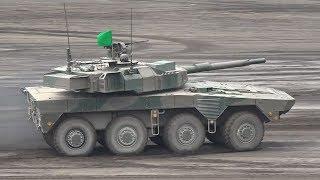 平成29年度富士総合火力演習 16式機動戦闘車 AAV 空挺降下 Type-16 Mobile Combat Vehicle