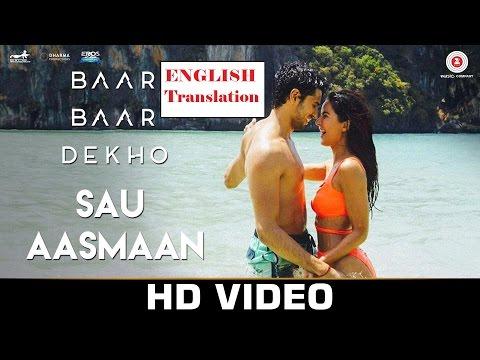 Sau Aasmaan English Translation Subtitles ...