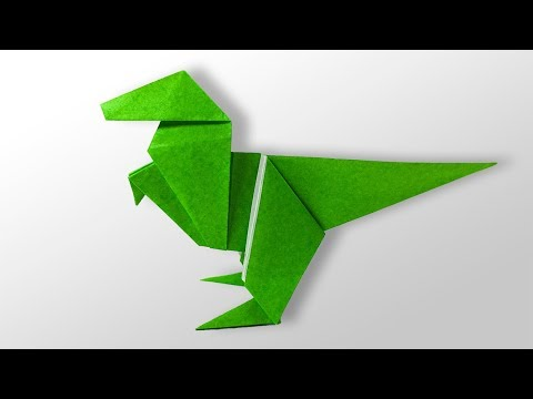 Easy Origami for kids - How to make Origami Dinosaur - YouTube - photo#44