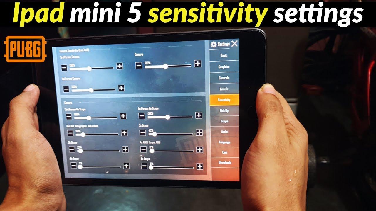 iPad Mini 5 PUBG Sensitivity Settings 2021 | PUBG Mobile ...