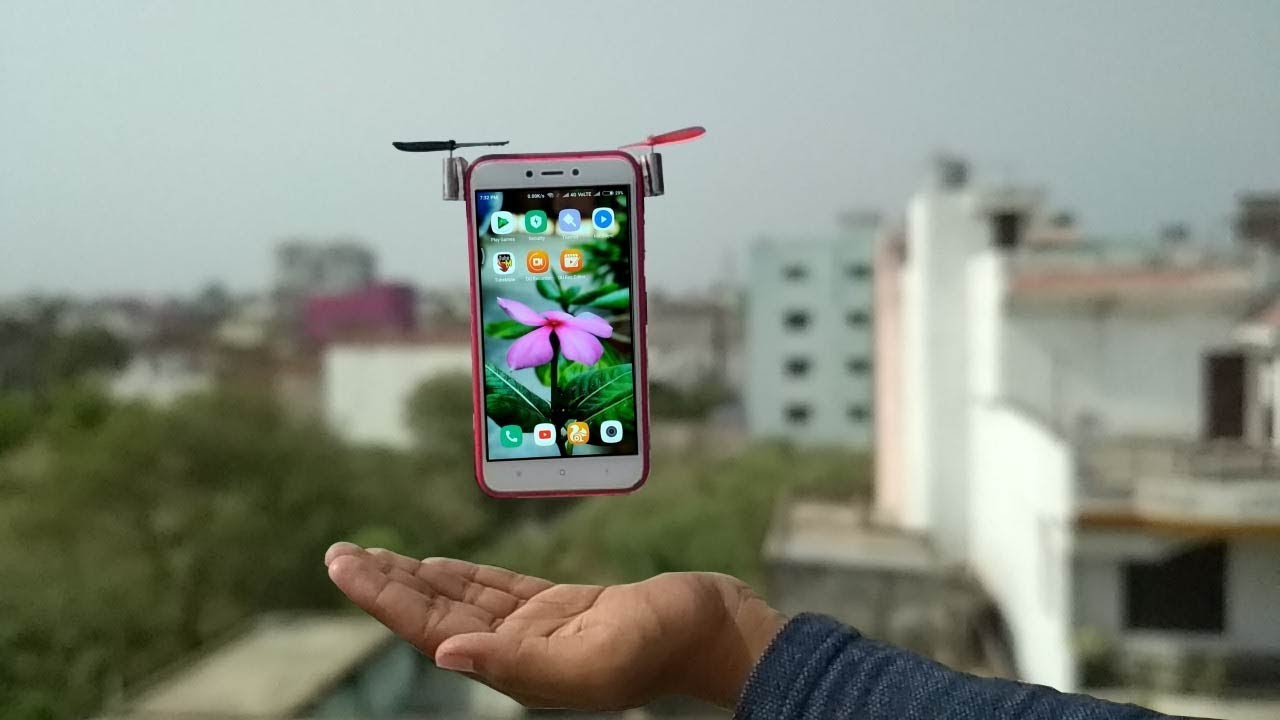 how to amazing make mobile drone - YouTube