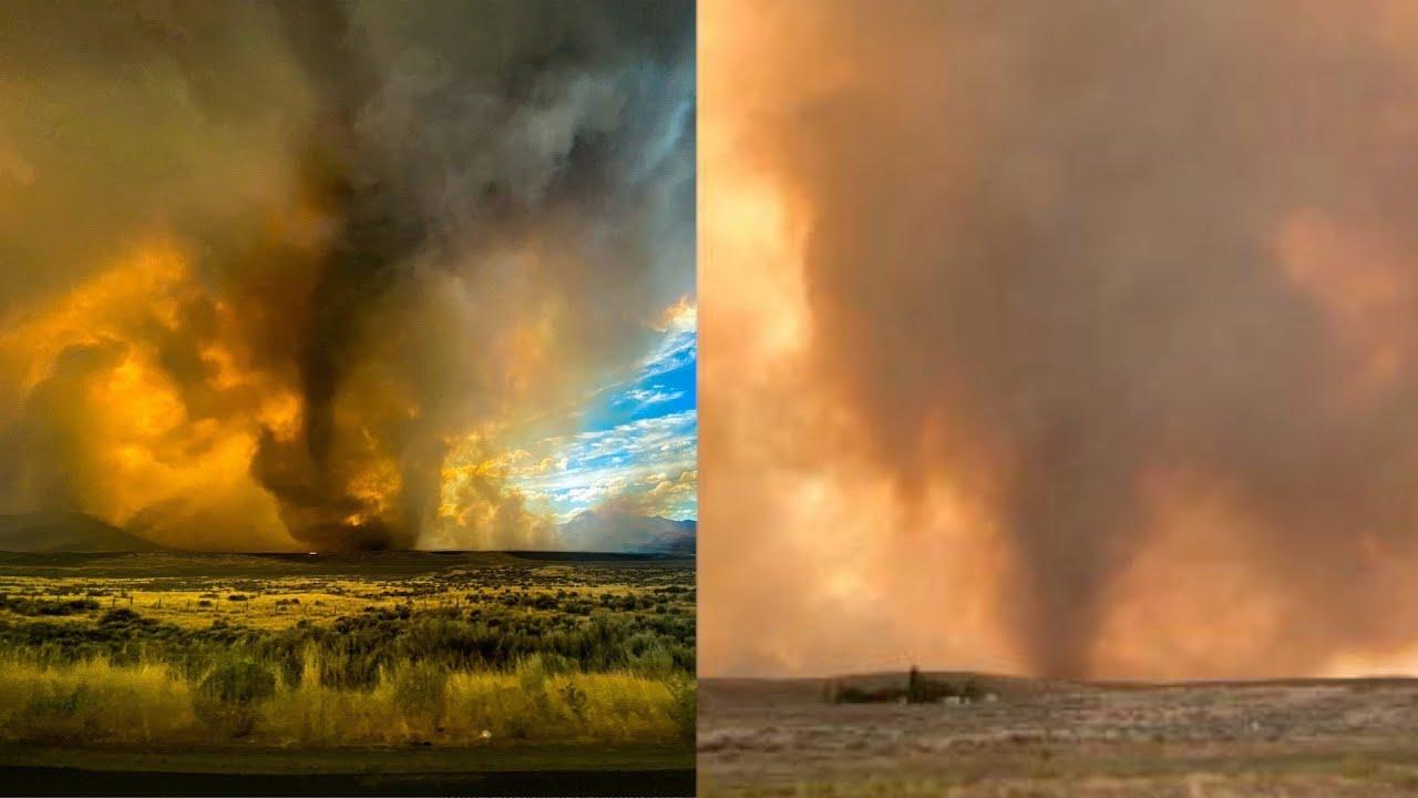Rare 'fire tornado' spotted in Northern California