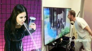 Самое смешное видео в мире. Попробуй не засмеяться с водой во рту челлендж ч. 95