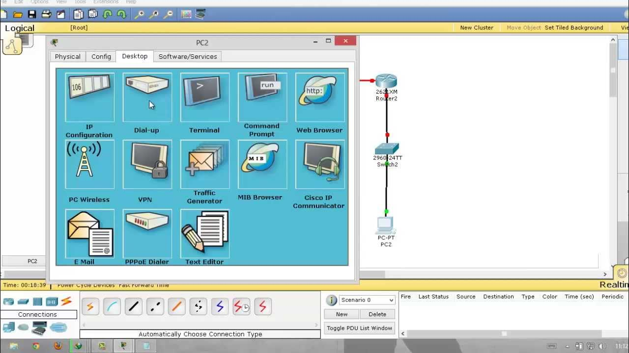 Implementation of R I P using Cisco Packet Tracer Network Simulator