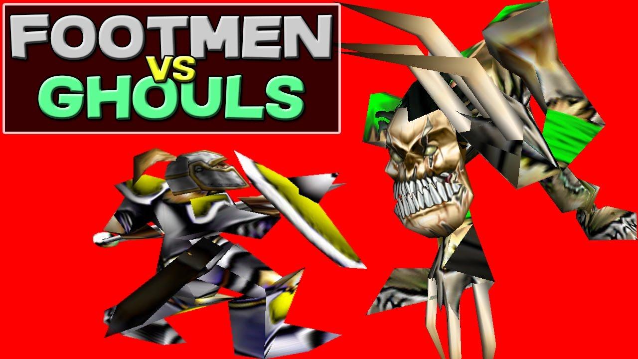 Warcraft 3 - Footmen vs Ghouls (6v6 #32)
