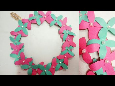 Diy wall hanging paper flower Craft idea/Easy wall Decoration idea/simple paper Craft