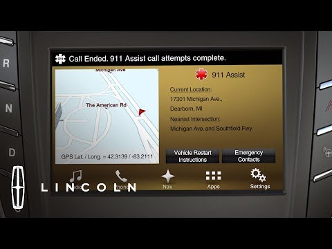 How 911 Assist Works With SYNC 3 How To Lincoln