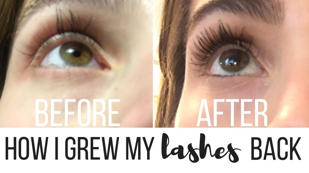 80451b2c5f7 How I Grew My Eyelashes Back After Eyelash Extensions - YouTube
