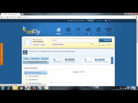 Shorten URL by Adf.ly, earn money : Awesome Free Internet Marketing Tool