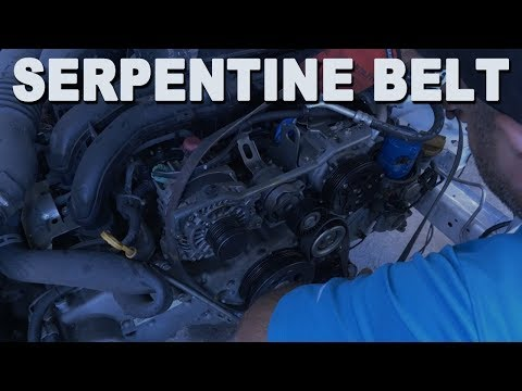 How To Install a Engine Serpentine Belt – 2015 Subaru Forester