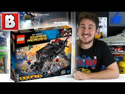 LEGO Justice League Flying Fox Batmobile Airlift Attack Set 76087!!! | BrickVault LIVE Build Review - 2017 LEGO Justice League DC Set!