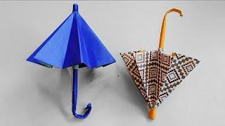 Origami Payung - Cara Membuat Payung Dari Kertas - Kerajinan Kertas Origami