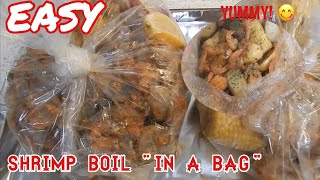 EASY Shrimp boil in a bag | Jazzy Monét | Cooking Show Ep. 1