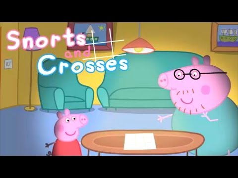 🎁 Папа Свин и #Свинка Пеппа играют в крестики нолики #мультик #игры для детей
