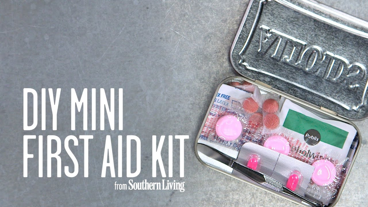 Diy mini first aid kit southern living youtube for Southern living login