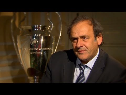 UEFA president Michel Platini on the Champions League fin...