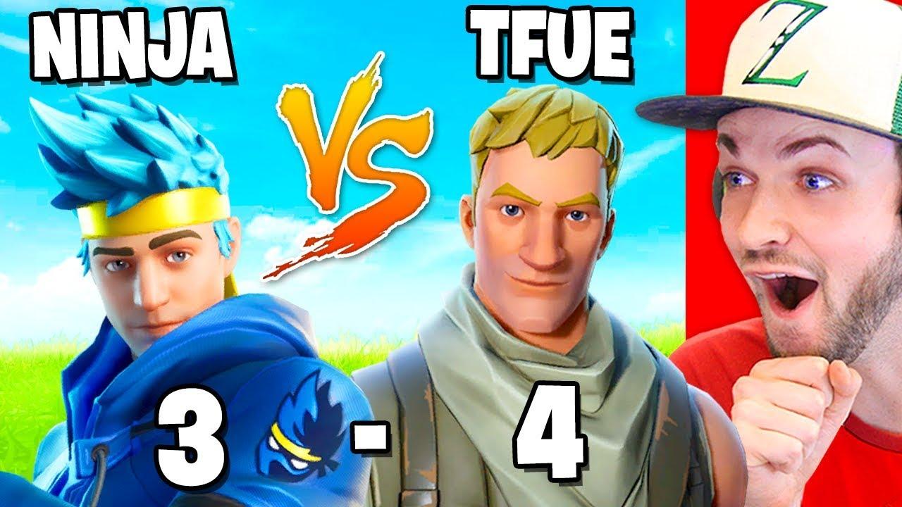 Reacting to NINJA vs TFUE! (ALL 1vs1 BATTLES)