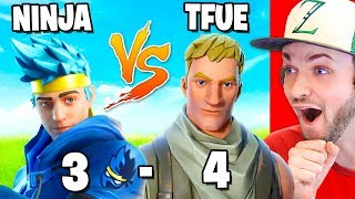 Reacting to NINJA vs TFUE! (ALL 1vs1 BATTLES)