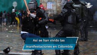 Las principales ciudades de Colombia volvieron a ser este miércoles, por séptimo día consecutivo, escenario de masivas marchas de protesta contra el gobierno, en principio, con algunos incidentes aislados