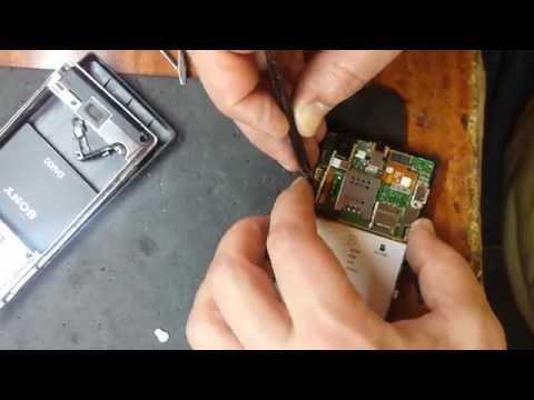 Sony Xperia J (ST26i) замена динамика