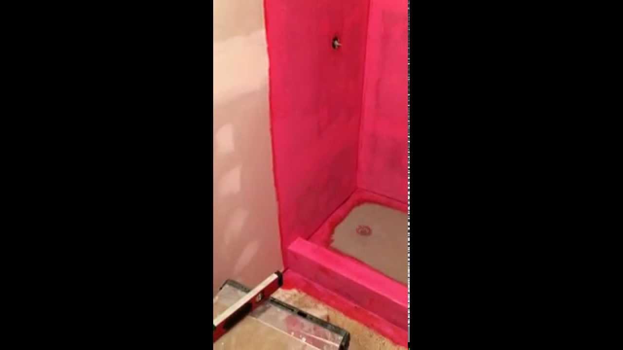Waterproofing Shower With Redgard