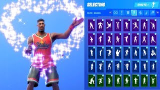 JUMPSHOT SKIN SHOWCASE WITH ALL FORTNITE DANCES & EMOTES