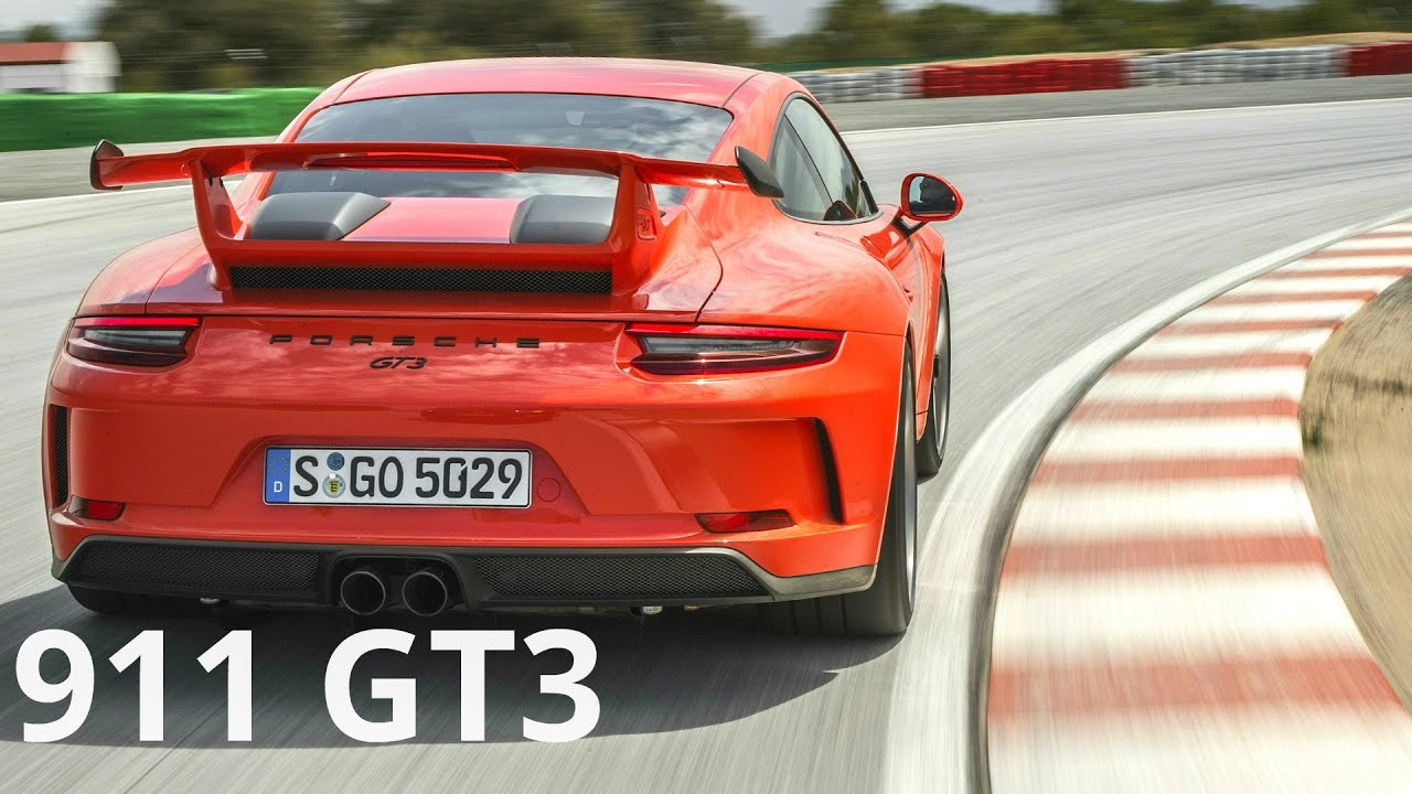 2018 Porsche 911 GT3 Lava Orange , Awesome 500 hp Engine Sound and Track  Drive