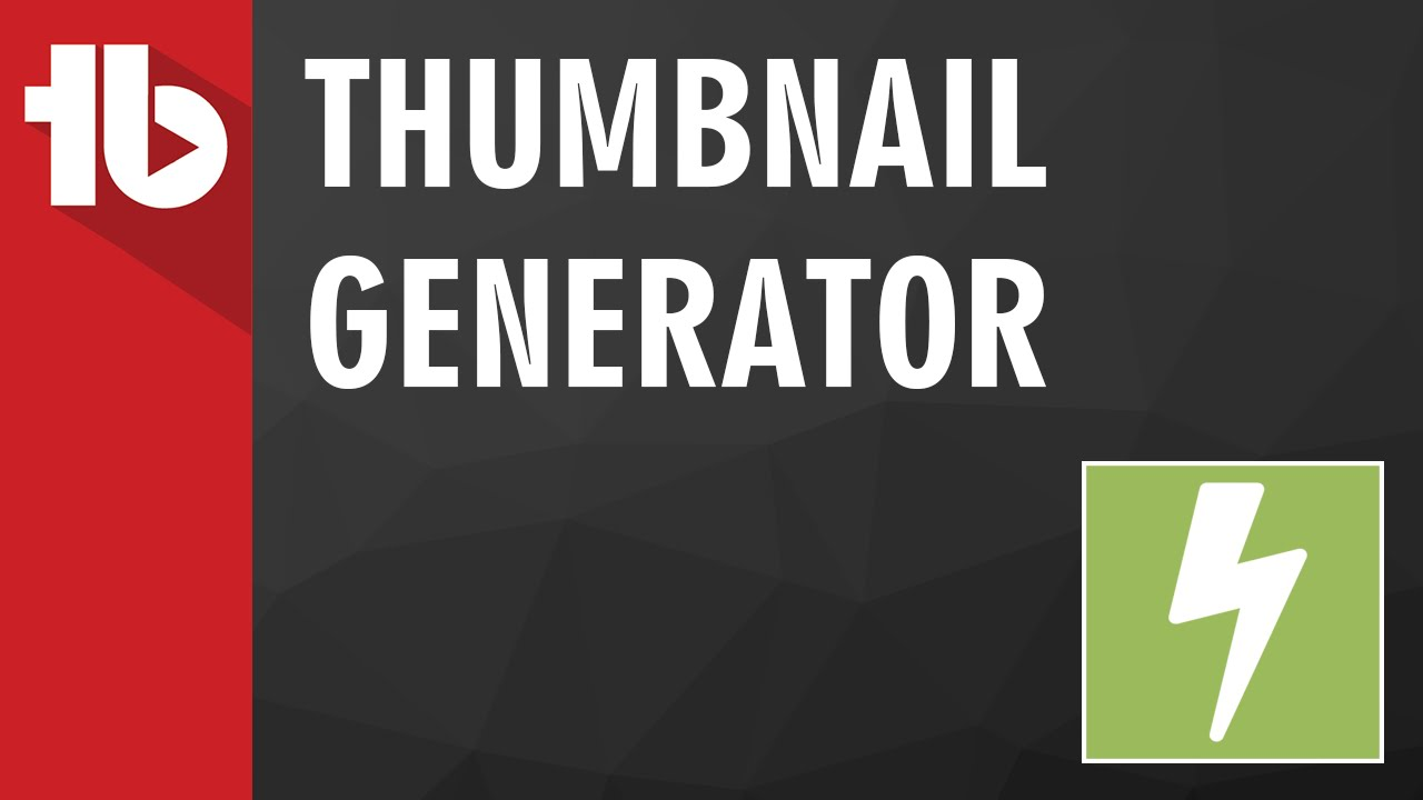 Thumbnail Generator for YouTube - TubeBuddy