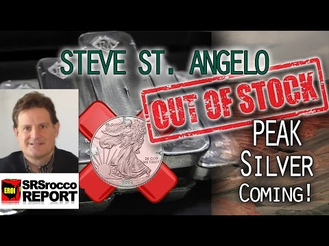 Peak Silver, COMEX record LOW Silver Stock & High Demand - Steve St. Angelo of SRSRoccoReport.com