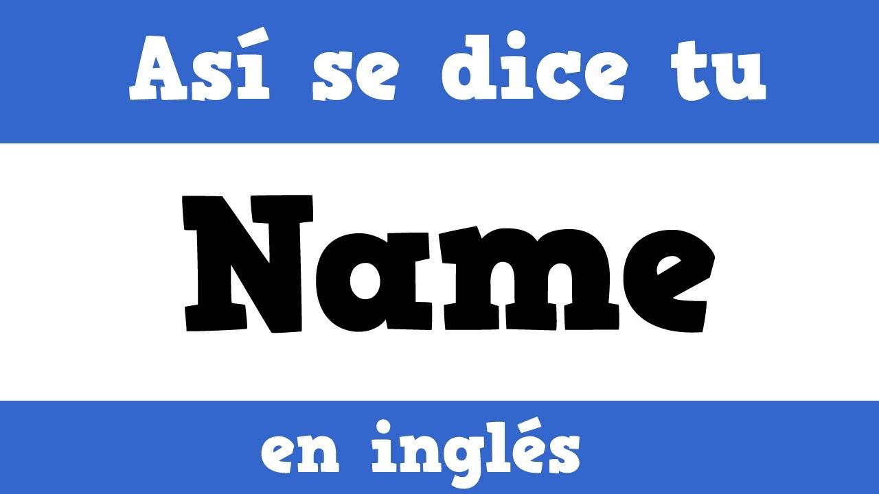 C u00f3mo se dice Gloria, Cristi u00e1n, Jaime, David y Francisco en Ingl u00e9s [names in Spanish  English