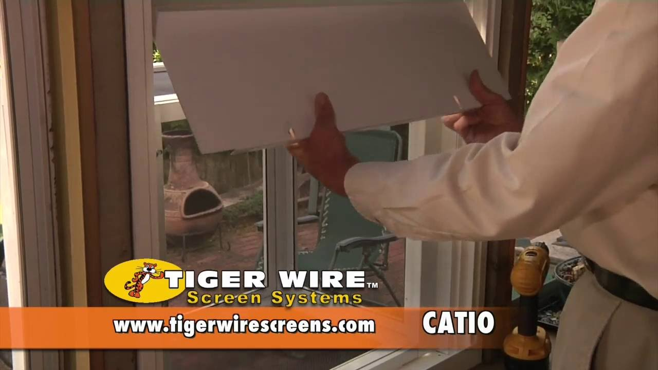 Tiger Wire Screen Systems : Installing a Catio (Cat Patio)