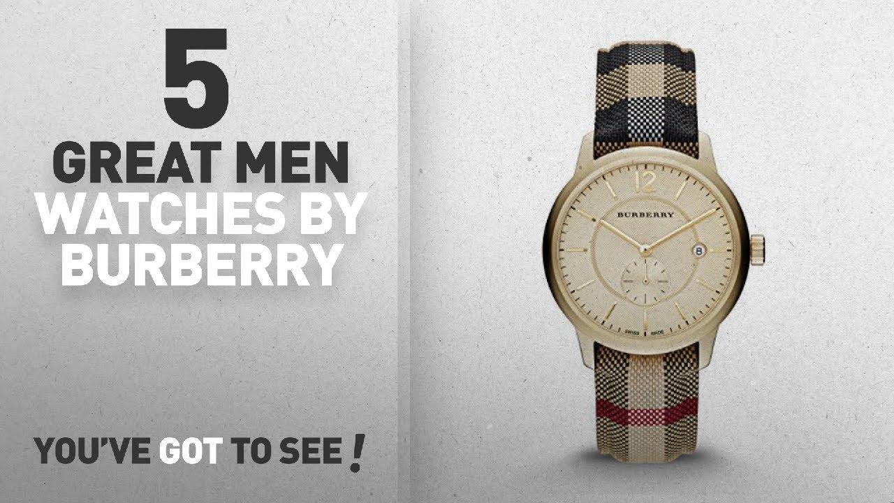 0b9e14a35249 Top 10 Burberry Men Watches   Winter 2018    Burberry Gold Dial Stainless  Steel Textile Multi Quartz