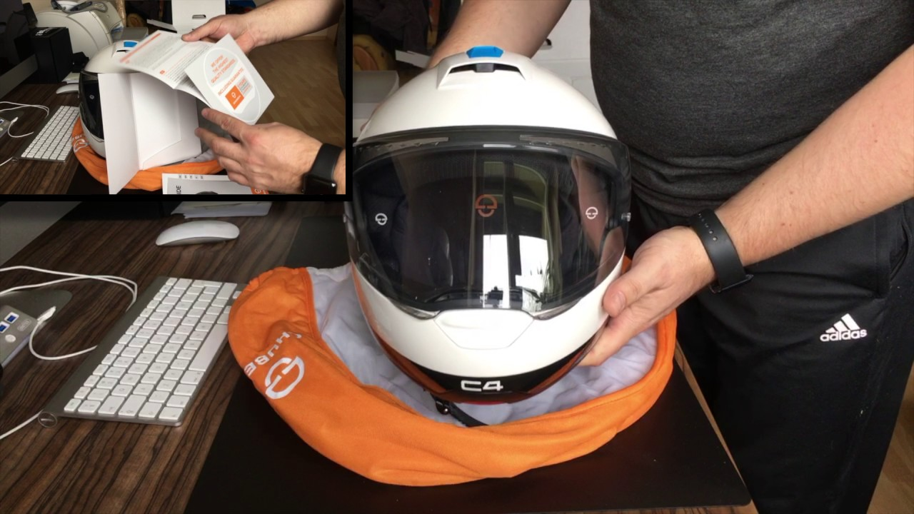 schuberth c4 pulse white and sc1 advanced unboxing youtube. Black Bedroom Furniture Sets. Home Design Ideas