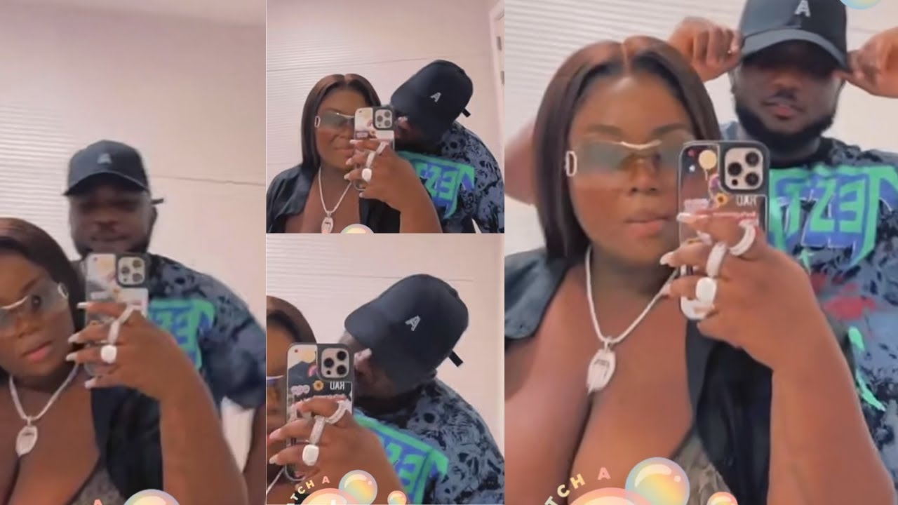 Download Maame Serwaa kisses her boyfriend, shows him off for the first time