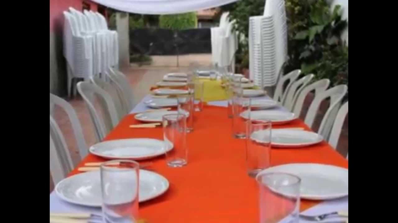 Alquiler de mesas y sillas para casamientos youtube for Todo mesas y sillas