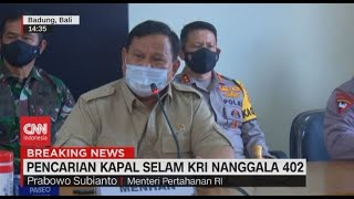 Download lagu Prabowo: Seluruh Bangsa Fokus Selamatkan Awak KRI Nanggala-402