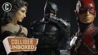 Justice League DC Collectibles: Batman, Wonder Woman, Flash, Aquaman, Cyborg - Unboxed