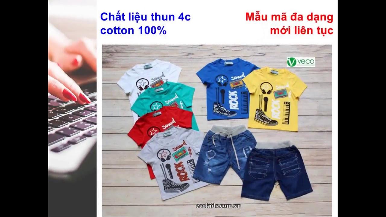 Xưởng may quần áo trẻ em giá sỉ Veco – quần jean áo thun đẹp cho bé mặc tết