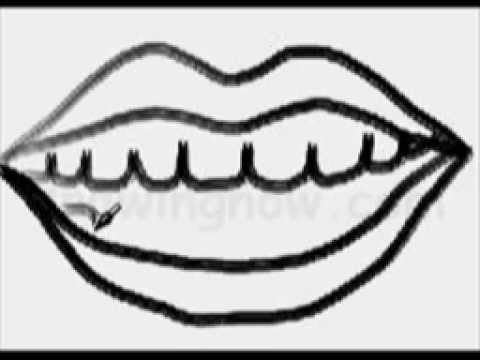 A Quick Way To Draw An Open Mouth Youtube